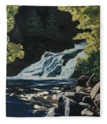 Mary Ann Falls On The Cabot Trail Fleece Blanket