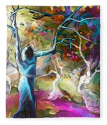 Mary Magdalene And Her Disciples Fleece Blanket