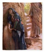 Mary Magdalene At The Sepulchre Fleece Blanket