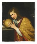 Mary Magdalene In Meditation  Fleece Blanket