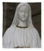 Mary Statue At Sacred Heart In Tampa Fleece Blanket