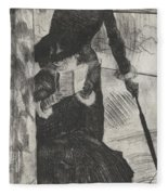 Mary Stevenson Cassatt Fleece Blanket