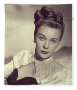 Mary Stuart, Vintage Actress Fleece Blanket