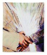 Mary Visits Elizabeth Fleece Blanket
