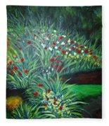 Maryann's Garden 3 Fleece Blanket