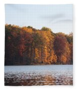 Maryland Autumns - Clopper Lake - Fall Bloom Fleece Blanket