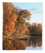 Maryland Autumns - Clopper Lake - Kingfisher Overlook Fleece Blanket
