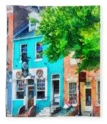 Maryland - Neighborhood Pub Fells Point Md Fleece Blanket