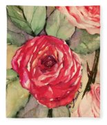 Ma's Roses 3 Fleece Blanket