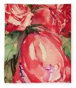 Ma's Roses 4 Fleece Blanket