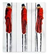 Masai Warrior Triptych - Original Artwork Fleece Blanket