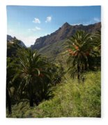Masca Valley And Parque Rural De Teno 2 Fleece Blanket