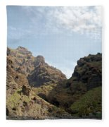 Masca Valley Entrance 2 Fleece Blanket