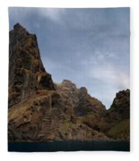 Masca Valley Entrance Panorama Fleece Blanket