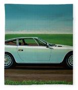 Maserati Khamsin 1974 Painting Fleece Blanket
