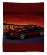 Maserati Merak 1972 Painting Fleece Blanket