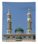 Masjid Darul-ibadah Domes And Minarets Dthcb0239 Fleece Blanket