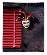 Mask By Window Fleece Blanket
