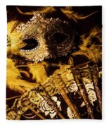 Mask Of Theatre Fleece Blanket