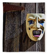 Mask On Barn Door Fleece Blanket