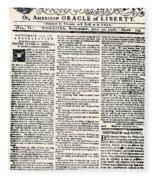 Massachusetts Spy, 1776 Fleece Blanket