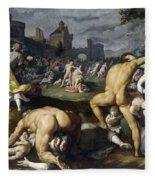 Massacre Of The Innocents Fleece Blanket