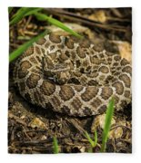 Massasauga Rattlesnake Fleece Blanket