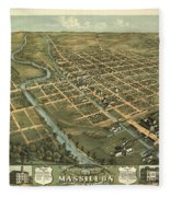 Massillon Ohio 1870 Fleece Blanket