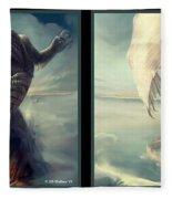 Massive Dragon - Gently Cross Your Eyes And Focus On The Middle Image Fleece Blanket