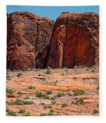 Massive Sandstone Cliffs Valley Of Fire Fleece Blanket