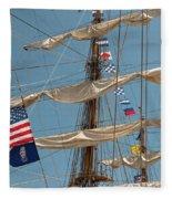 Mast Flags Fleece Blanket