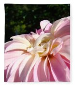 Master Gardener Pink Dahlia Flower Garden Art Prints Canvas Baslee Troutman Fleece Blanket
