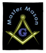 Master Mason In Black Fleece Blanket