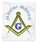 Master Mason In White Fleece Blanket