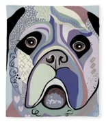 Mastiff In Denim Colors Fleece Blanket