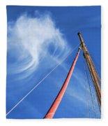 Masts And Clouds Fleece Blanket