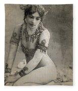 Mata Hari Sketch Fleece Blanket