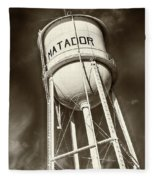 Matador Texas Water Tower Fleece Blanket
