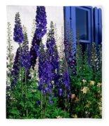 Matching Flowers And  Window Fleece Blanket