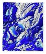 Material Evidence In Blue And White Fleece Blanket