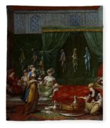 Private Chamber Of An Aristocratic Turkish Woman Fleece Blanket