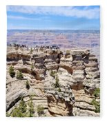 Mather Point At The Grand Canyon Fleece Blanket
