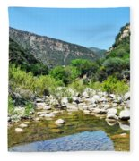 Matilija Hot Springs Fleece Blanket