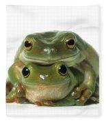 Mating Frogs Fleece Blanket