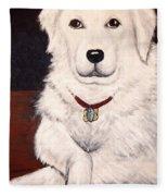 Matisse- Portrait Of A Hungarian Kuvasz Fleece Blanket