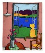 Matisse's Cat Fleece Blanket
