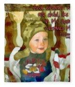 Matthew 18 5 Fleece Blanket