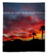 Matthew 21 Fleece Blanket