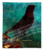 Matthew Six Verse Twenty Six Fleece Blanket