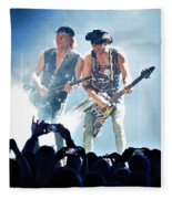 Matthias Jabs And Rudolf Schenker Shredding Fleece Blanket